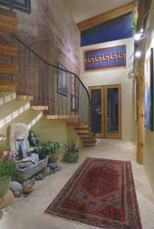 Picture of sustainable design of passive solar foyer